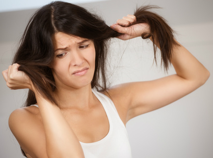 Dry hair is brittle and hard to manage and breaks and splits at the slightest touch.