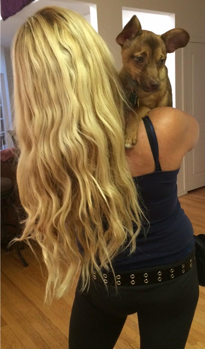 Long Highly Moisturized Hair